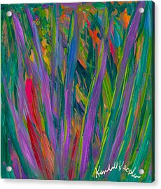 Waving Acrylic Print by Kendall Kessler