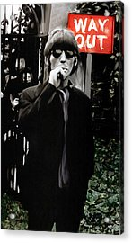 Way Out  George Harrison Acrylic Print by Iconic Images Art Gallery David Pucciarelli