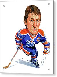Wayne Gretzky Acrylic Print by Art