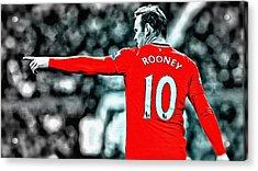 Wayne Rooney Poster Art Acrylic Print by Florian Rodarte