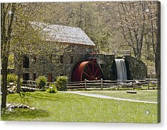 Wayside Grist Mill 6 Acrylic Print by Dennis Coates