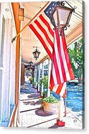 We Are Americans Acrylic Print by Joseph Mora