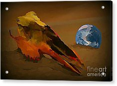 We Are But Bacteria On A Beautiful Marble  Acrylic Print by John Malone