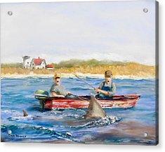 We Need A Biggah Boat Acrylic Print by Jack Skinner