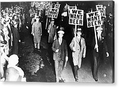 We Want Beer Acrylic Print by Unknown