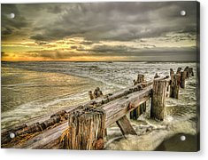 Weather Break Acrylic Print by Steve DuPree