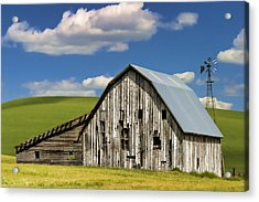 Weathered Barn Palouse Acrylic Print by Carol Leigh
