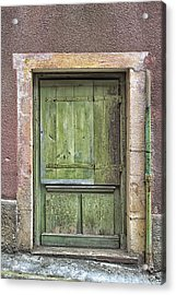 Weathered Green French Door Acrylic Print by Georgia Fowler