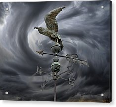 Weathervane Acrylic Print by Steven  Michael