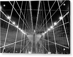 Web Of The Brooklyn Bridge Acrylic Print by Kenan BUYUK SUNETCI