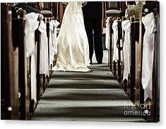 Wedding In Church Acrylic Print by Elena Elisseeva