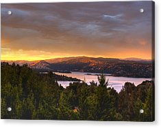 Wednesday Evening Sunset Acrylic Print by Kandy Hurley
