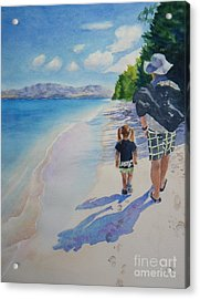weekend stroll -SOLD Acrylic Print by Lisa Pope