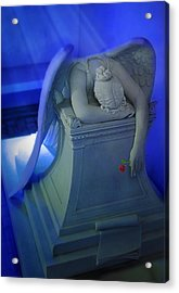 Weeping Angel Front View Acrylic Print by Don Lovett