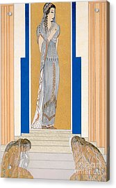 Weeping Penelope Acrylic Print by Francois-Louis Schmied