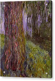 Weeping Willow And The Waterlily Pond Acrylic Print by Claude Monet
