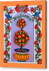 Welcome Acrylic Print by Amy Vangsgard