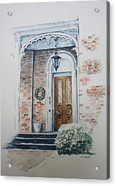 Welcome Christmas Acrylic Print by Patsy Sharpe