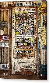 Welcome To Hackberry General Store Acrylic Print by Priscilla Burgers