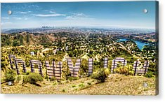 Welcome To Hollywood Acrylic Print by Natasha Bishop