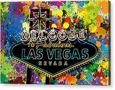 Welcome To Las Vegas Acrylic Print by Gary Grayson