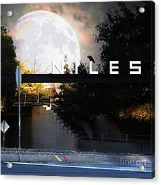 Welcome To Niles California Gateway To The Stars 7d12755 Square Acrylic Print by Wingsdomain Art and Photography