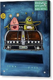 Welcome To Roswell Acrylic Print by Leah Saulnier The Painting Maniac