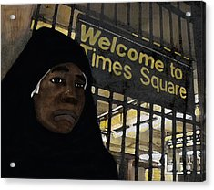 Welcome To Times Square Acrylic Print by Adam Metzner