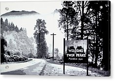Welcome To Twin Peaks Acrylic Print by Luis Ludzska