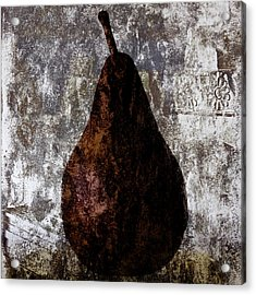 Well-read Pear Acrylic Print by Carol Leigh