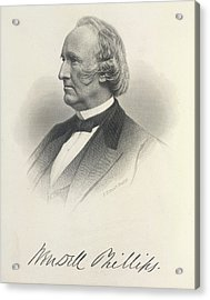 Wendell Phillips Acrylic Print by British Library