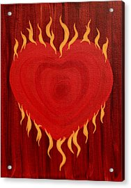 Were Not Our Hearts Burning Within Us Acrylic Print by Michele Myers