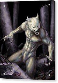 Werewolf Acrylic Print by Bryan Syme