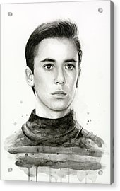 Wesley Crusher Star Trek Fan Art Acrylic Print by Olga Shvartsur