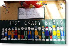 West Coast Bento Acrylic Print by David Bearden