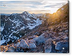 West From Evans Acrylic Print by Adam Pender