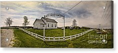 West Liberty Cemetery Acrylic Print by Gregory Dyer