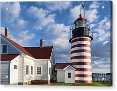 West Quoddy Head Lighthouse Acrylic Print by John Greim