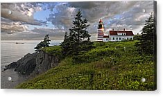 West Quoddy Head Lighthouse Panorama Acrylic Print by Marty Saccone