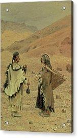 West Tibetans, 1875 Oil On Canvas Acrylic Print by Piotr Petrovitch Weretshchagin