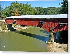 West Union Covered Bridge 2 Acrylic Print by Marty Koch