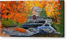 West Virginia Grist Mill Acrylic Print by William Tremble
