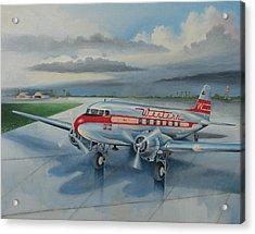 Western Airlines Dc-3 Acrylic Print by Stuart Swartz