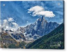 Western Alps In Chamonix Acrylic Print by Juergen Klust