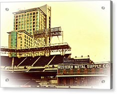 Western Metal-petco Park Acrylic Print by See My  Photos