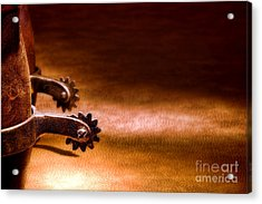 Western Spurs Acrylic Print by Olivier Le Queinec