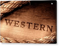Western Stamp Branding Acrylic Print by Olivier Le Queinec
