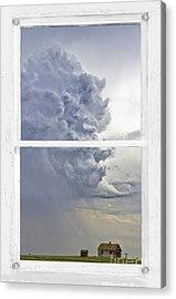 Western Storm Farmhouse Window Art View Acrylic Print by James BO  Insogna