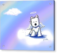 Westie Angel At Rainbow Bridge Acrylic Print by Kim Niles
