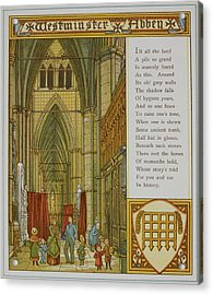 Westminster Abbey Acrylic Print by British Library